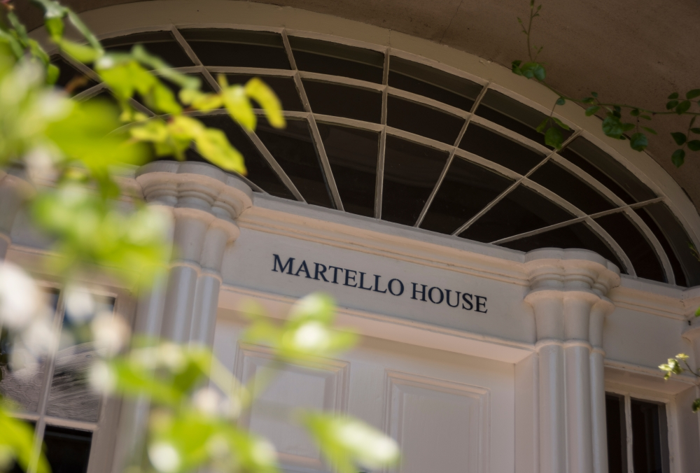 Constructed in 1831 Grade B1 listed Martello House has been fully restored with modern additions