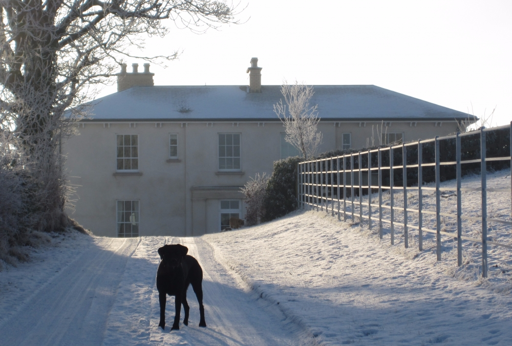 Neo Georgian a frosty morning at this neo-georgian country house set in an