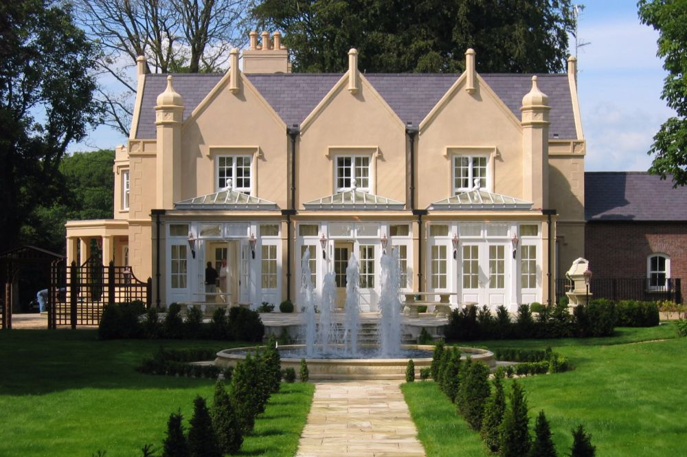 Private Gothic Mansion Fully Restored With New Garden Room To Terrace,  Brick Built Courtyard And Gra | Des Ewing Residential Architect