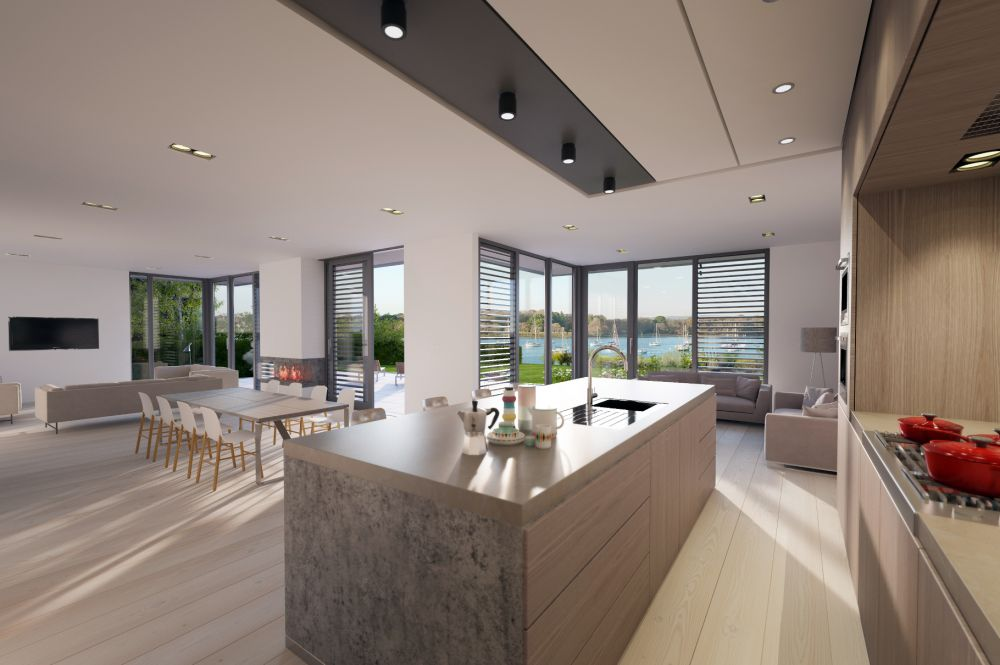 Contemporary yet understated coastal residence, Chichester Harbour, West Sussex