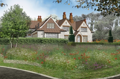 Arts & Crafts style home for a Surrey client